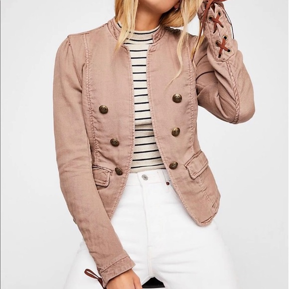 7e5bed4c1b Free People Jagger Double Breasted Blazer Jacket